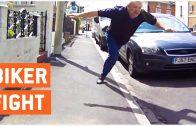 Lol! Instant Justice For Crazy Road Rage Against Biker
