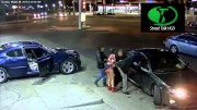 High Definition video of Gang Woman pulling a gun from under her skirt and shooting up Detroit gas station